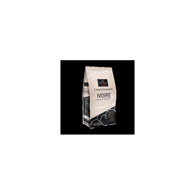 Chocolate Blanco Ivoire 250 gr Valrhona