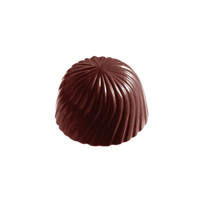 Placa de bombones de chocolate Rosacea
