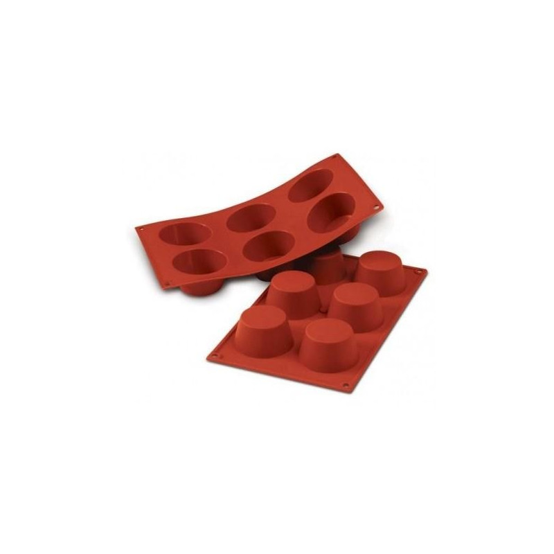 Molde silicona de 6 muffing