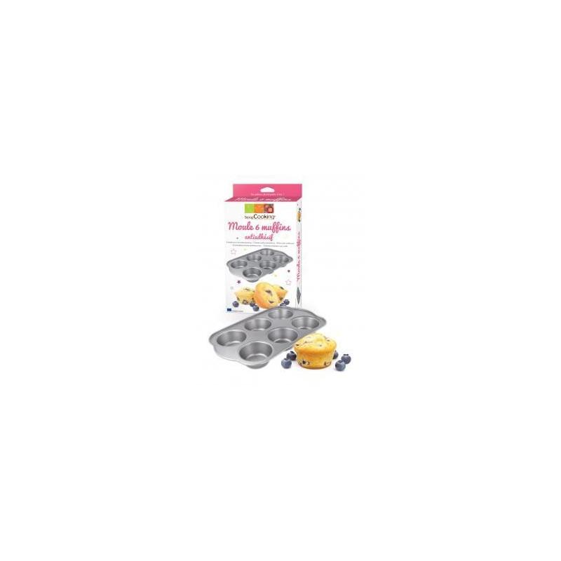 Molde placa de 6 muffins