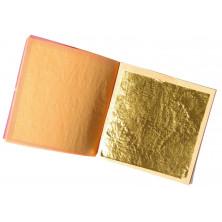 Cuaderno de 5 hojas de oro alimenticio