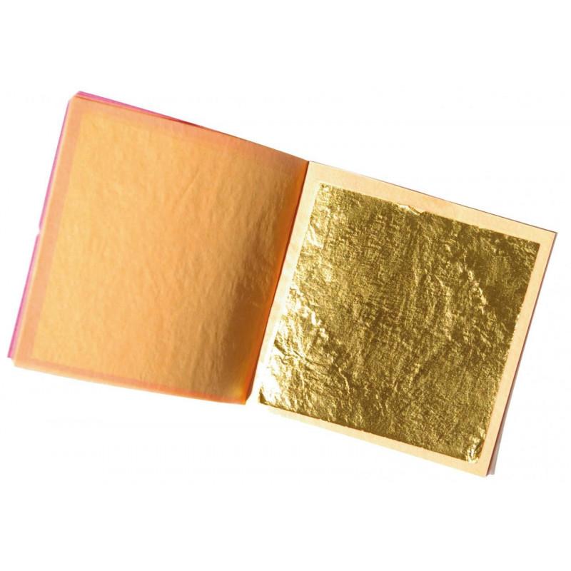 Cuaderno de 5 hojas de oro alimenticio S