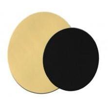Cartón de oro redondo 22 cm /ud