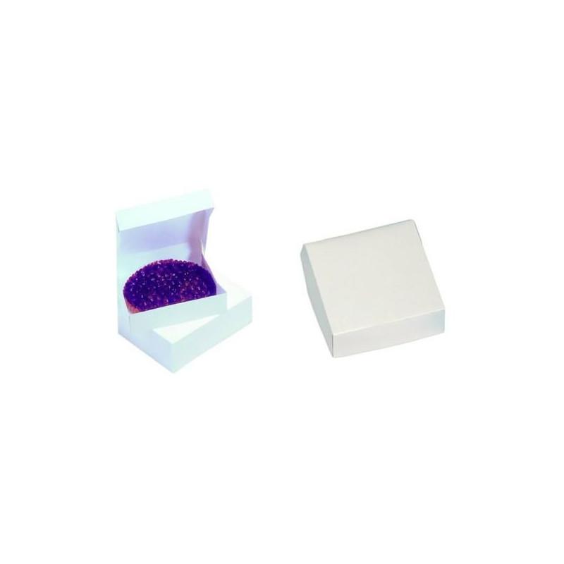 Caja cuadrada blanca 22x8 /ud