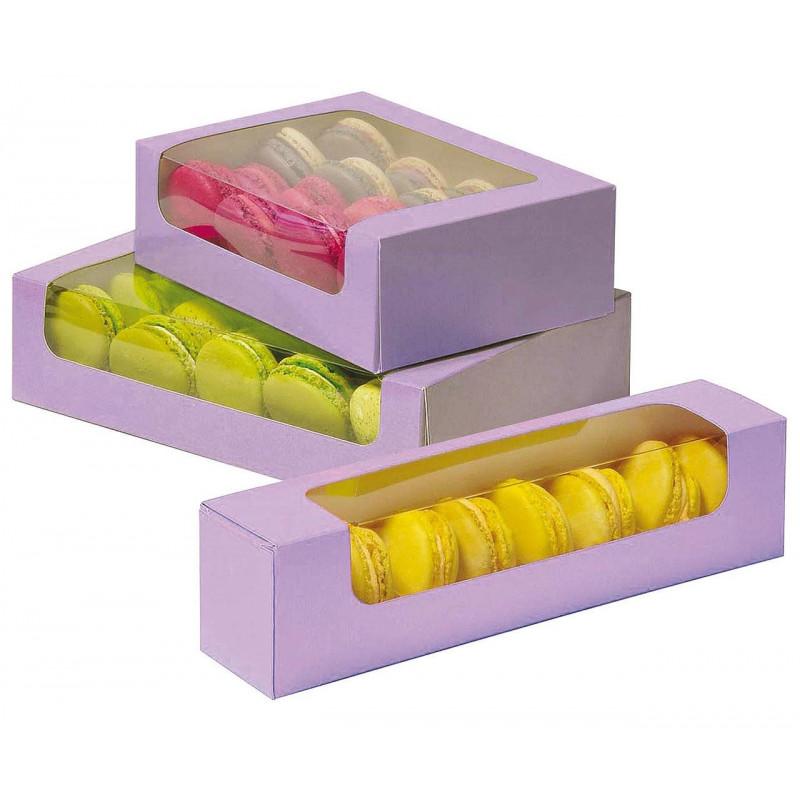 Caja de macaron morada /ud