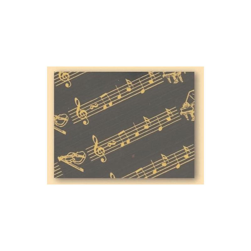 Hojas transfer para chocolate musica