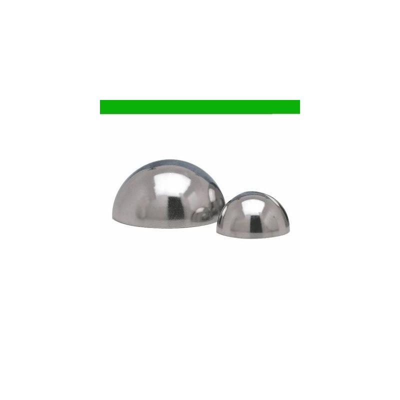 Molde semi esfera inox para chocolate