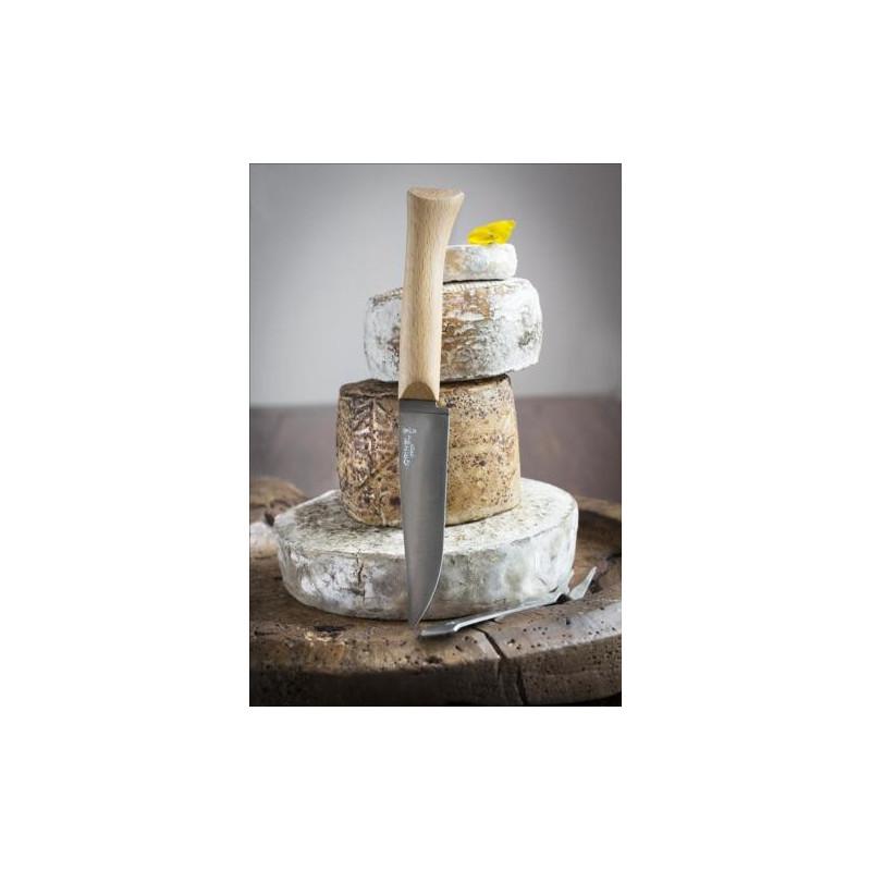Cuchillo de queso y tenedor