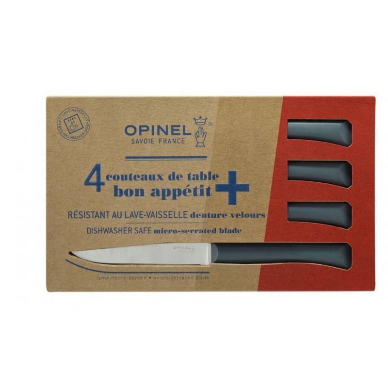 Estuche de 4 cuchillos de mesa Bon Appetit + Antracita