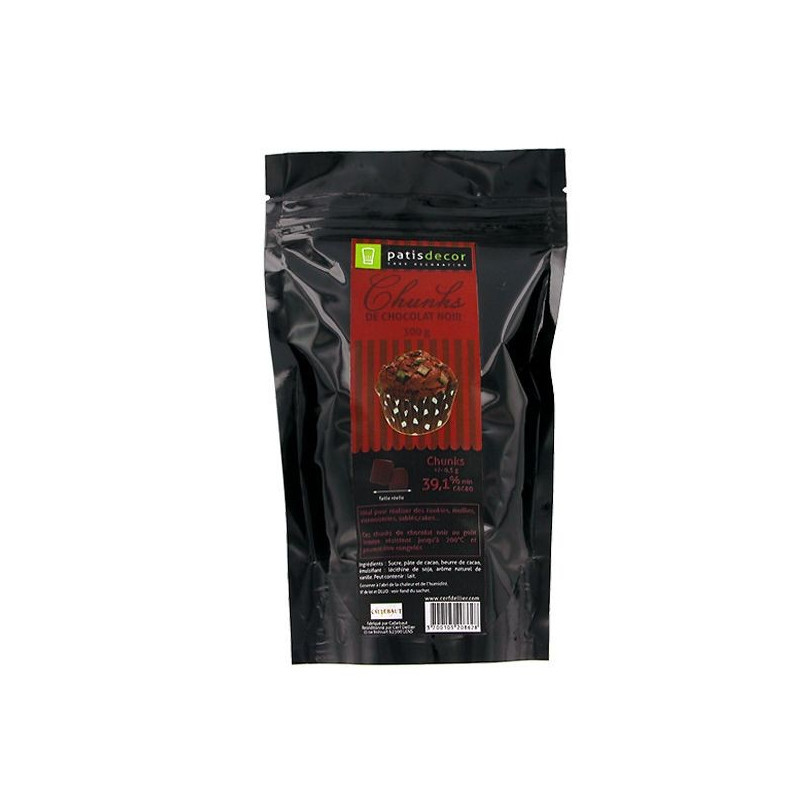 Pepitas de chocolate negro chunks  Patisdécor 250 g