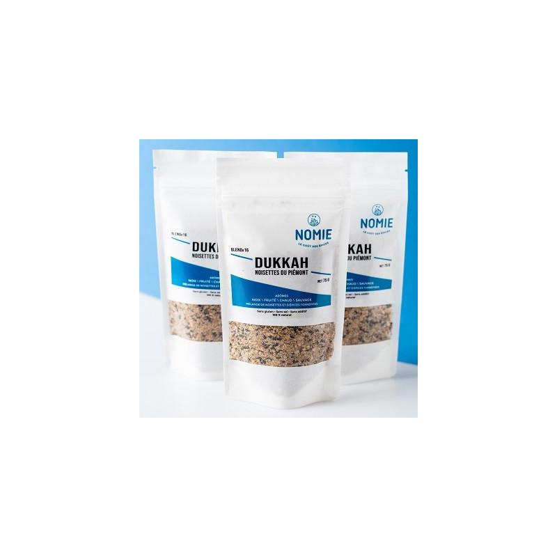 Dukkah con avellanas del Piamonte - paquete de 75 g