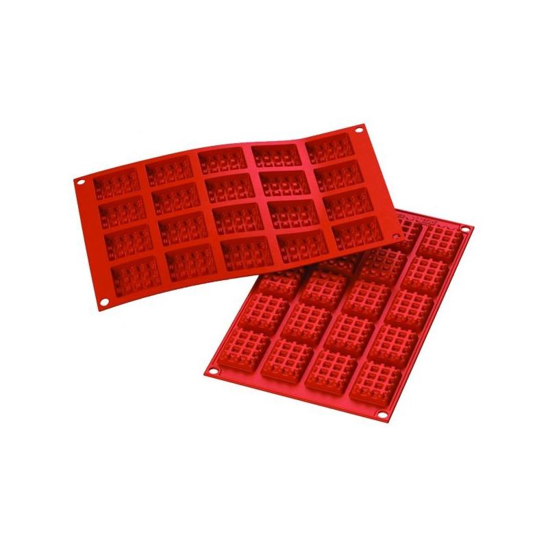 Molde de silicona de 20 mini gofres