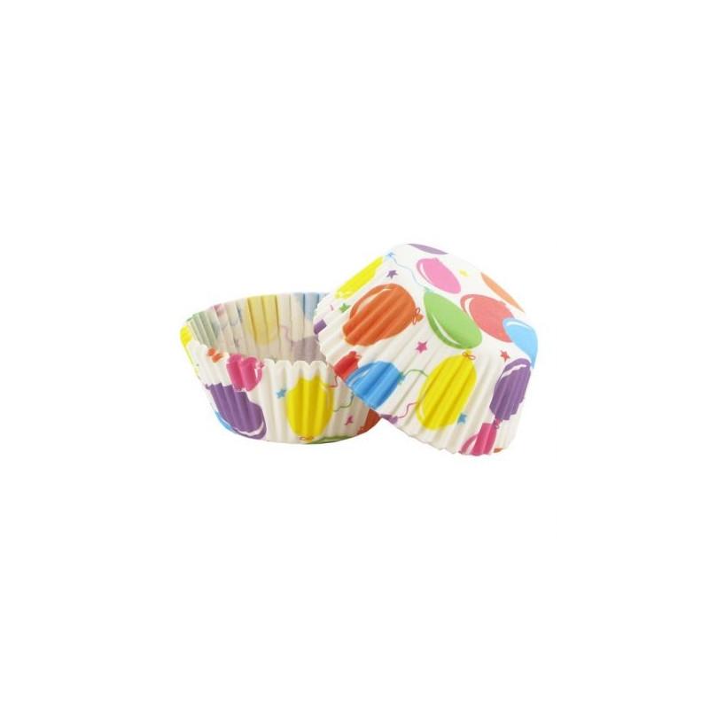 Capsulas cupcakes,Globos 50 unidades