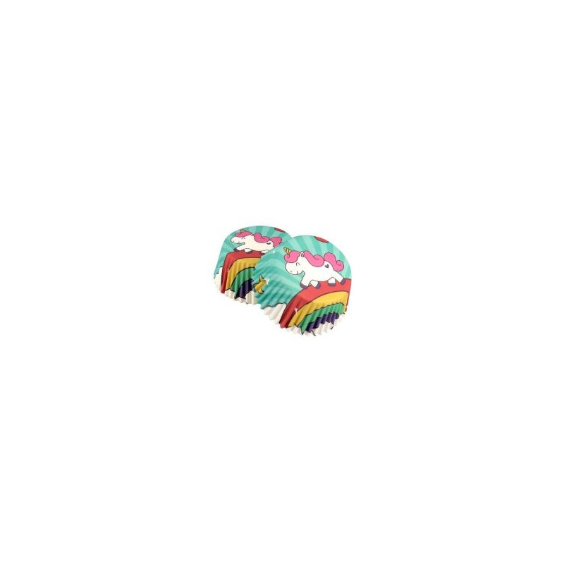 Capsulas cupcakes,Unicorno 50 unidades