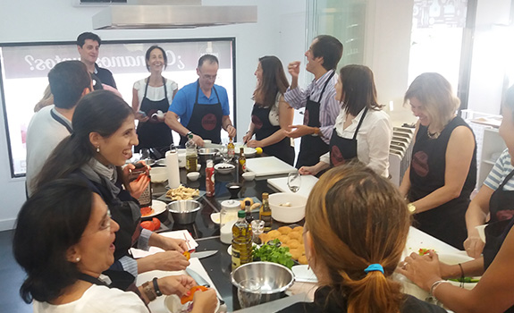 Cooking party en Madrid